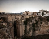 Puente Nuevo Bridge on Cliffs in Ronda, Spain 8x10 inch Photographic Print