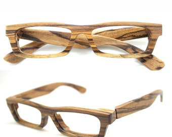 LOVE-WOOD zebra wood TAKEMOTO eyeglasses glasses frame with prescription lenses