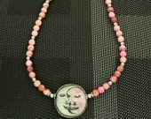 I Love You to the Moon and Back  Moon Necklace OOAK