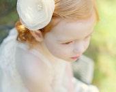 Ivory Organza Wedding Hair Flower, Vanilla Ivory Organza, Bridal Accessories, Bridal Hair Flower, Vanilla Ivory Wedding, Hair Accessory