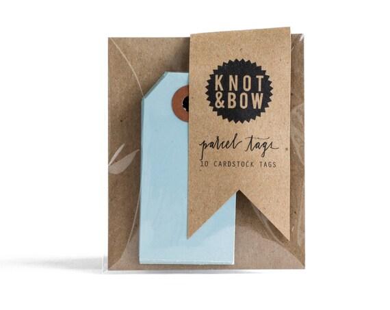 Light Blue Parcel Gift Tags / Set of 10