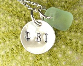 LBI Necklace With Sea Foam Sea Glass