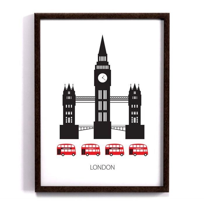 London poster art print scandinavian design skyline modern for Scandinavian furniture london