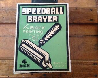 Vintage Speedball Brayer in box 4 inch