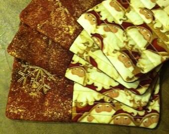 Quilted Santa Mug Mats