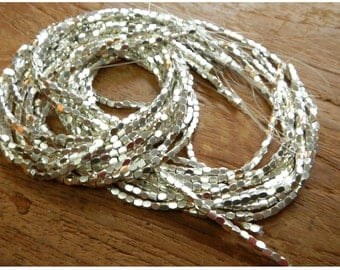Faceted Sterling Silver Beads - 2MM X 2MM
