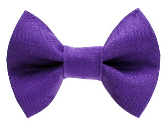 """Cat Bow Tie - """"The Manager on Duty"""" - Purple"""