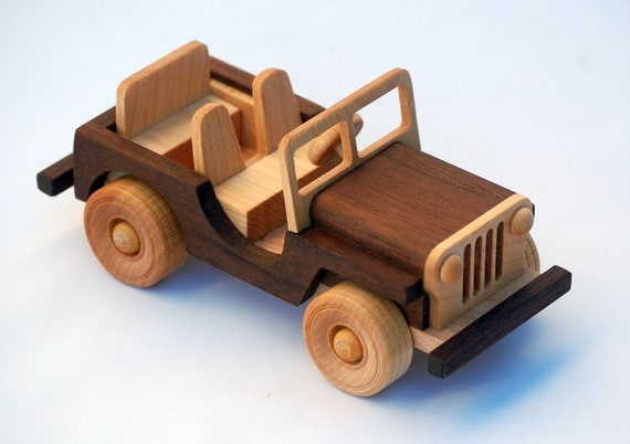 Items similar to Wooden Toy Truck - Off-road Vehicle ...