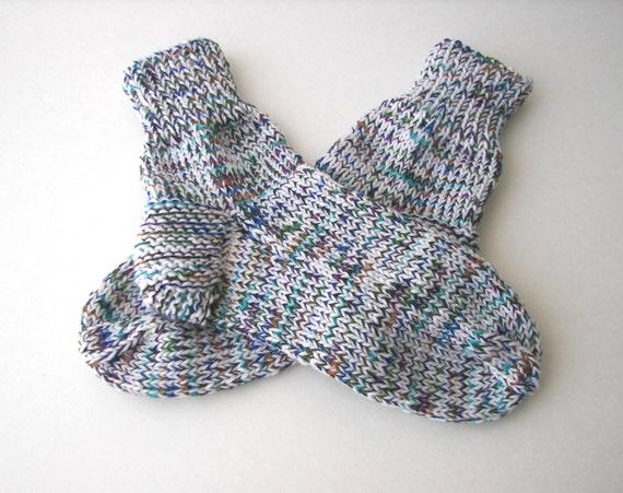 Knitting Pattern Thick Wool Socks : Hand Knit MERINO Wool THICK Socks in Enchanted Garden by ATIdesign