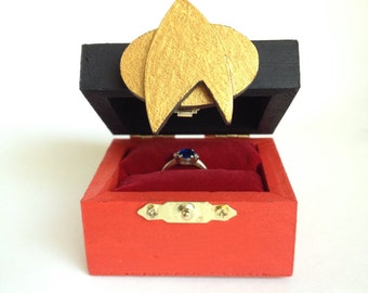 star trek ring box next generation ring box star trek wedding ring box - Star Trek Wedding Ring