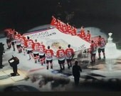 CHICAGO BLACKHAWKS Banner Raising Ceremony Opening Night October 1st 2013 8x10 Photo