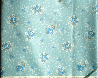 Hope Valley Wall Flower new day blue Denyse Schmidt Free Spirit fabric FQ or more