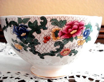 "Vintage ROYAL COULDON ""VICTORIA"" Sugar Bowl Made in 1920's England"