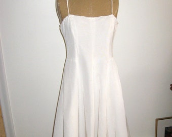 50s Faille Dress / 50's Bridal Dress / Party Dress with Big Skirt / PROM / Faille Dress with Mink Trim