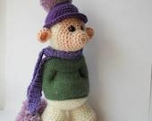 crocheted troll doll, Amigurumi cute monster