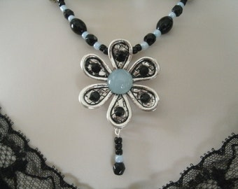 Flower Necklace, victorian jewelry edwardian jewelry art deco jewelry gothic jewelry renaissance medieval art nouveau neo victorian