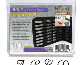 Monogram-Cambridge Uppercase Alphabet Metal Stamp Set- 6mm in size- Metal Stamps-Jewelry Stamping Supplies