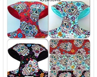 Sugar Skull Comfort Soft Harness - Made to Order -