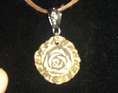 Desert Rose Stoneware Aromatherapy Essential Oil Diffuser Necklace