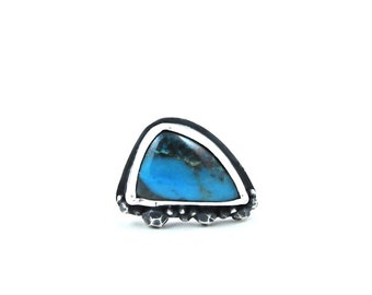 SALE // Turquoise + Sterling Pebble Ring