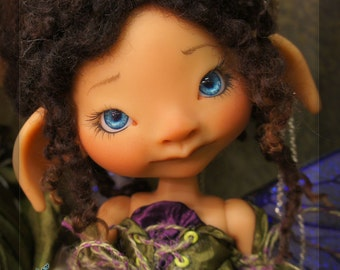 Ivy tan resin - nude with face up - BJD ball joint doll - In Stock
