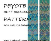 Peyote Cuff Bracelet Pattern Vol.21 - Peacock Feathers - PDF File PATTERN