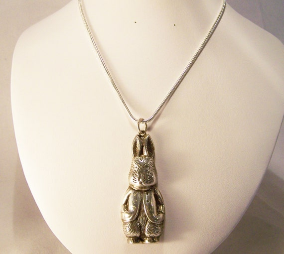 Sterling Silver Peter Rabbit 2 5 Pendant Beatrix Potter