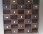 APOTHECARY SPICE CABINET Vintage Wall Hanging