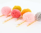 Pink Bobby Pins, Kids Bobby Pins, Gold Bobby Pins, Flower Girl hair accessory, Holiday gift, gift for girls, whimsical gift
