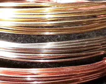22 gauge Copper Wire for jewelry crafts Dead Soft round wire - 25 feet