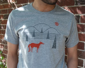 SALE - Fox Hills T-shirt on Heather Gray Men/Unisex T-Shirt