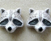 Peruvian Ceramics Raccoon Animal Head Pendant Bead Craft Supplies Jewelry Making Bead Supplies Ceramic Beads (2)