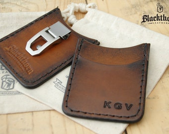 Rover II, Minimalist Leather Credit Card Wallet, Money Clip Wallet, Front Pocket Wallet