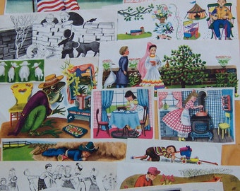 vintage children's stories paper clippings