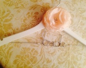 Personalized Custom Bridal Hanger, Brides Hanger, Bride, Name Hanger, Wedding Hanger, Personalized Bridal Giftwith Rosette