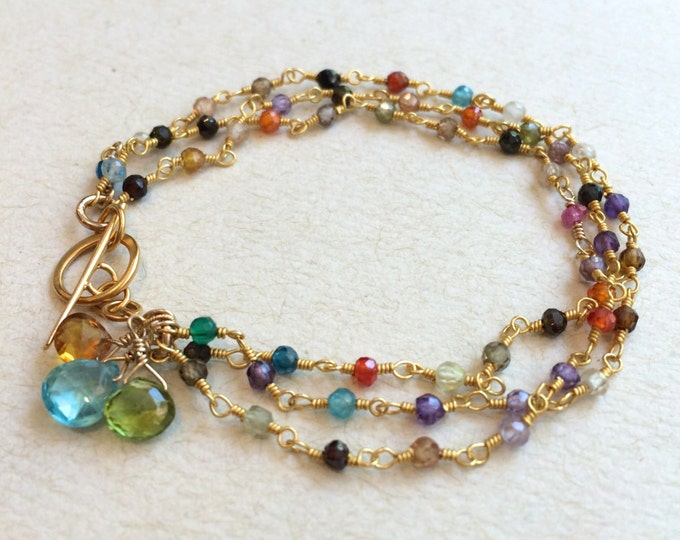 Personalized Mother's Gemstone Bracelet