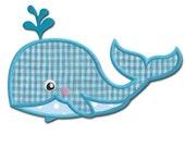 Whale Applique Design