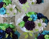 Peacock Inspired Wedding  Centerpiece  - Paper Bouquet -  Handmade Paper Flowers - Made to Order - Customize your style and colors