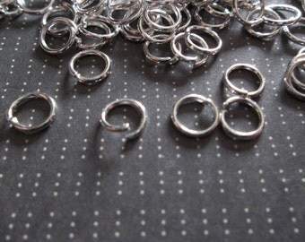 Round 6mm Silver Jump Rings 20 gauge - Qty 142