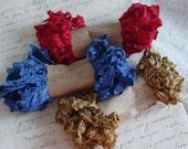 Shabby Wrinkled VINTAGE REUNION ribbon bundle, 15 yards