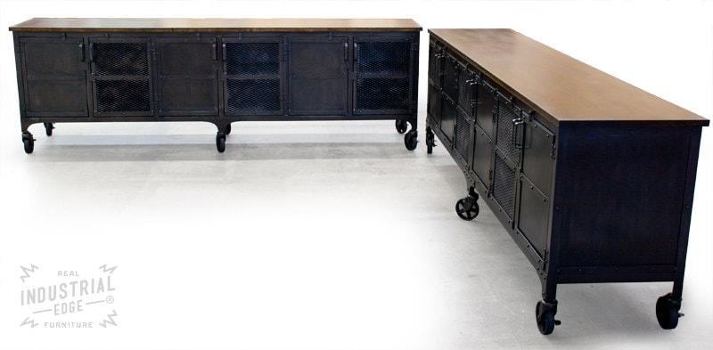 Custom 9 Industrial Rolling Media Cabinet Wood Amp Steel