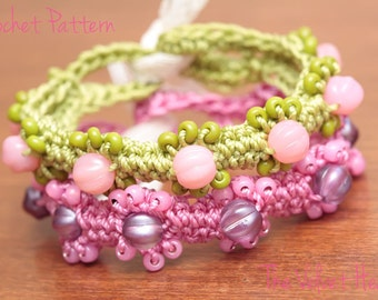 Beaded Jewelry Pattern, Crochet Bracelet, DIY Bracelet Tutorial(20)