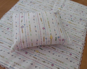 doll pillow and comforter