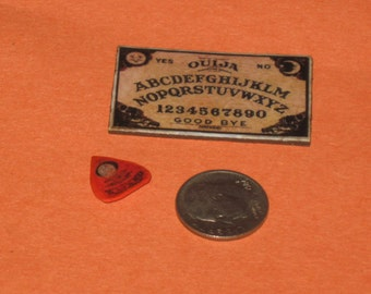 Dollhouse Miniature Handmade OUIJA BOARD and Planchett Set 2 pieces