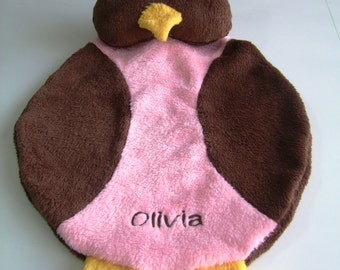 Owl Cuddle Buddy Personalized First Name