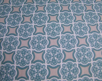 Teal Medallion Fabric by the Yard RoseCliff Manor by Emily Taylor Riley Blake Designs