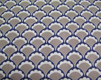 Gray Vintage Scallop Lula Magnolia Quilted Fish Riley Blake Designs  1 Yard SALE