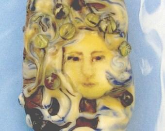 Lampwork Mermaid  Focal Bead - Fiona