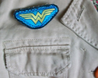 Wonder Woman eco brooch by Claudia Fill