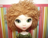 Dirty blonde hobo hippie faux fur wig hair for Pullip Taeyang